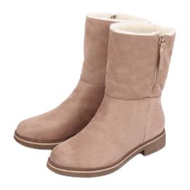 Stivali da donna scamosciato beige S118 Sand marrone