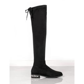 Bestelle Stivali alti con tacco decorativo nero