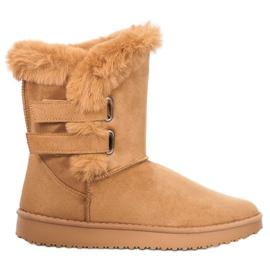 SHELOVET Stivali da neve caldi marrone