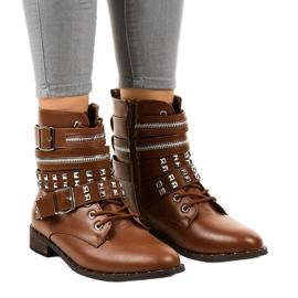 Stivali alla moda marroni 688-29 marrone