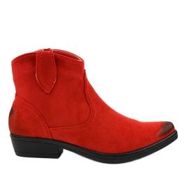 Stivali da cowboy K860 da donna rossi piatti rosso