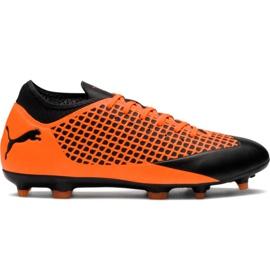 Scarpe da calcio M Puma Future 2.4 Fg Ag 104839 02 arancione nero, arancione