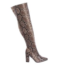 Serpente in pelle di serpente DA28 Khaki Snake