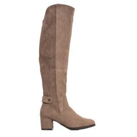 Goodin Stivali caldi sopra il ginocchio marrone