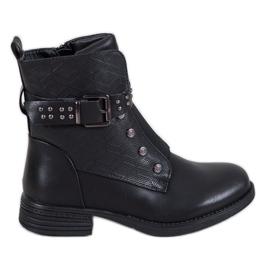 J. Star Stivali neri con elastico nero