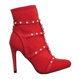 Bestelle Stivaletti alla caviglia con perle rosso