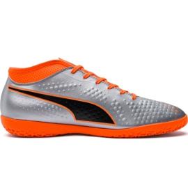 Scarpe da calcio M Puma One 4 Syn It 104750 01 argento arancione, grigio / argento