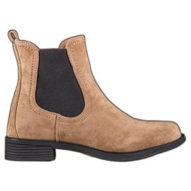 Ideal Shoes Stivali casual Jodhpur marrone