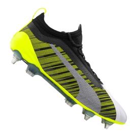 Scarpe da calcio Puma One 5.1 Mx Sg Fg M 105615-02 bianco, nero, giallo multicolore