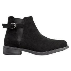 Ideal Shoes Stivali di pelle scamosciata nero
