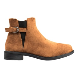 Ideal Shoes Stivali di pelle scamosciata marrone