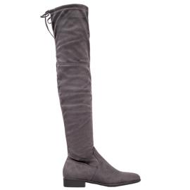 SHELOVET Stivali grigi sopra il ginocchio grigio