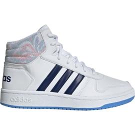 Scarpe Adidas Hoops Mid 2.0 Jr EE8546 bianco