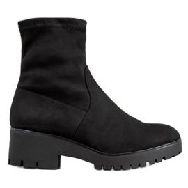 SHELOVET Stivali neri sulla piattaforma nero