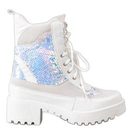 Seastar Stivali sulla piattaforma di moda bianco