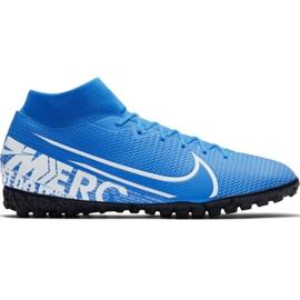 Scarpe da calcio Nike Mercurial Superfly 7 Academy M Tf AT7978 414 bianco, blu blu