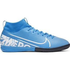 Scarpe da calcio Nike Mercurial Superfly 7 Academy Ic Jr AT8135 414 blu bianco, blu