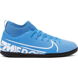 Scarpe da calcio Nike Mercurial Superfly 7 Club Ic Jr AT8153 414 bianco, blu blu