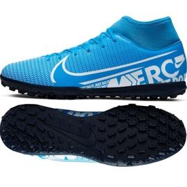 Scarpe da calcio Nike Mercurial Superfly 7 Club M Tf AT7980 414 nero nero, grigio / argento