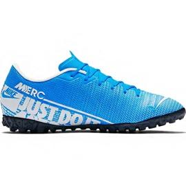 Scarpe da calcio Nike Mercurial Vapor 13 Academy M Tf AT7996 414 blu bianco, blu