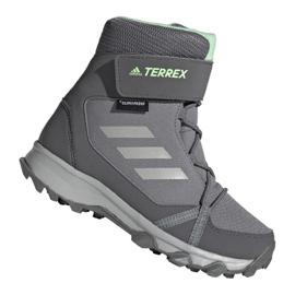Scarpe Adidas Terrex Snow Cf Cp Cw Jr G26580 grigio