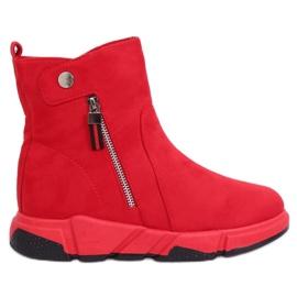 Stivali rossi in stile sportivo SJ1938 Rosso