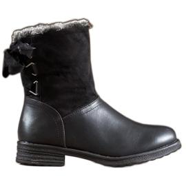 SHELOVET Stivali caldi con pelliccia nero