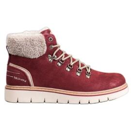 McKey Stivali di camoscio rosso