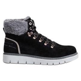 McKey Stivali di camoscio nero