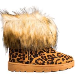 SHELOVET Mukluki con pelliccia stampa leopardo