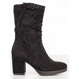 SHELOVET Stivali Alti Con Fibbia nero