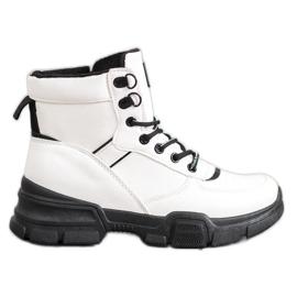 SHELOVET Stivali sulla piattaforma di moda bianco