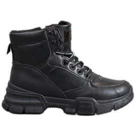 SHELOVET Stivali sulla piattaforma di moda nero