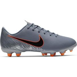 Scarpe da calcio Nike Mercurial Vapor 12 Academy Mg Jr AH7347 408 arancione, grigio / argento