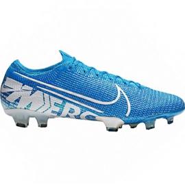 Scarpe da calcio Nike Mercurial Vapor 13 Elite Fg M AQ4176 414 bianco, blu blu