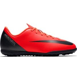 Scarpe da calcio Nike Mercurial Vapor X 12 Club Gs CR7 Tf Jr AJ3106 600 rosso