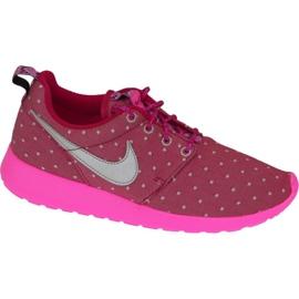 Scarpe Nike Rosherun Print Gs W 677784-606 rosa