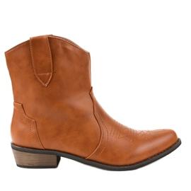 Stivali marroni sugli stivali da cowboy 928-1 marrone