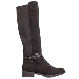 Super Me Stivali eleganti con fibbia nero