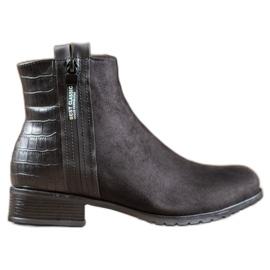 Erynn Stivali Con Una Cerniera Decorativa nero