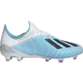 Scarpe da calcio Adidas X 19.1 M Fg F35316 bianco, blu blu