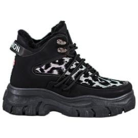 SHELOVET Sneaker con stampa leopardo nero