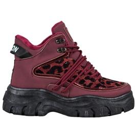 SHELOVET Sneaker con stampa leopardo rosso