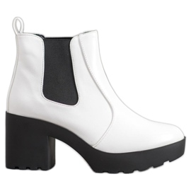 Weide Stivali alla moda Jodhpur bianco