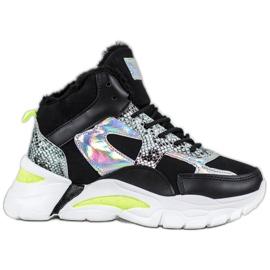 Bella Paris Sneakers con effetto holo nero