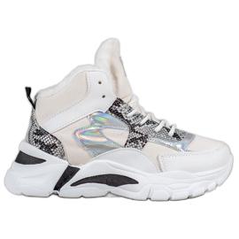 Bella Paris Sneakers con effetto holo
