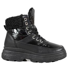 Bella Paris Sneakers con montone nero