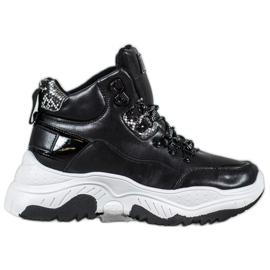 Bella Paris Sneaker allacciate alla moda nero