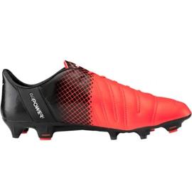 Scarpe da calcio Puma evoPOWER 1.3 Lth Fg M 103850 01 nero, arancione arancione