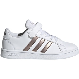 Scarpe Adidas Grand Court C Jr EF0107 bianco